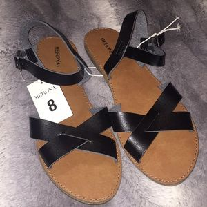 🆕 NWT Merona Black/Elke Sandals
